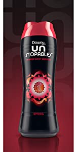 downy unstopables scent beads spring scent, washing machine, washer, clothes, scent beads