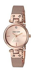 Amazon Com Anne Klein Women S Ak 1362rgrg Rose Gold Tone