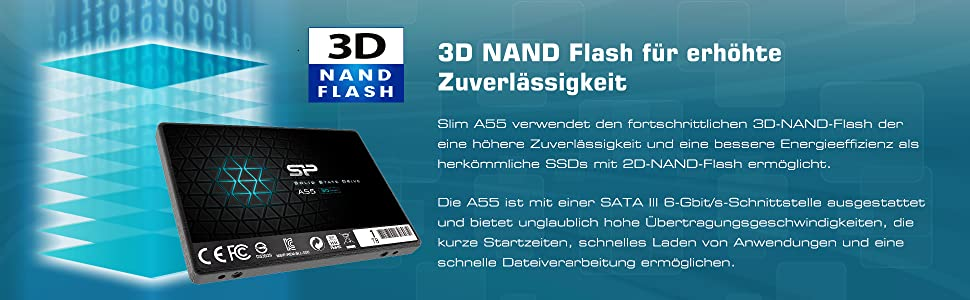 Silicon Power Ssd 1tb 3d Nand A55 Slc Cache Performance Computers Accessories
