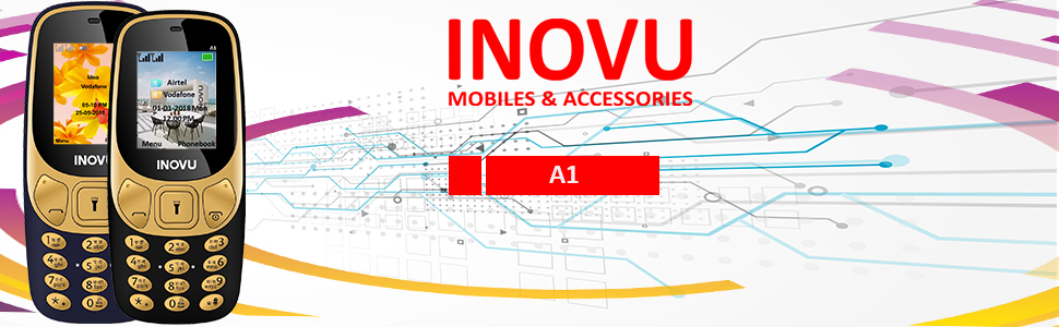 Inovu Mobiles,Feature Mobile Phone,Keypad Phone,Basic Mobiles,Dual Sim Phone,Camera,Vibrator,FM,A1