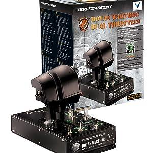 thrustmaster, mando de potencia, hotas warthog, simulacion de vuelo, joystick pc