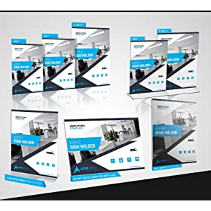 Amazon adir plexi acrylic 85 x 11 single slant back design adiroffice acrylic display sign holders colourmoves