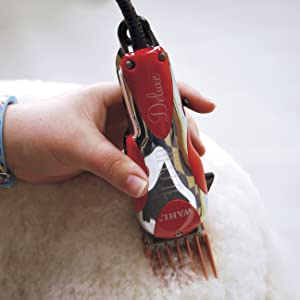 Deluxe U Clip on White Poodle