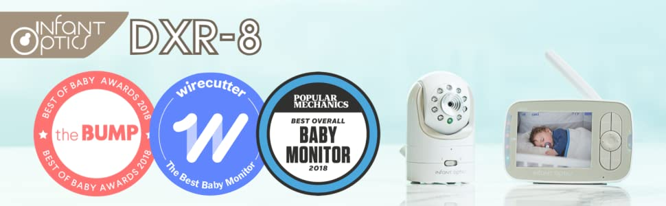 Infant Optics DXR-8 Video Baby Monitor Add-On Camera W//Power cords /& Extra lense
