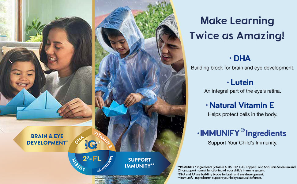Similac Stage 3, growing up milk formula, milk formula for kids, 2-FL, DHa, immunify ingredients