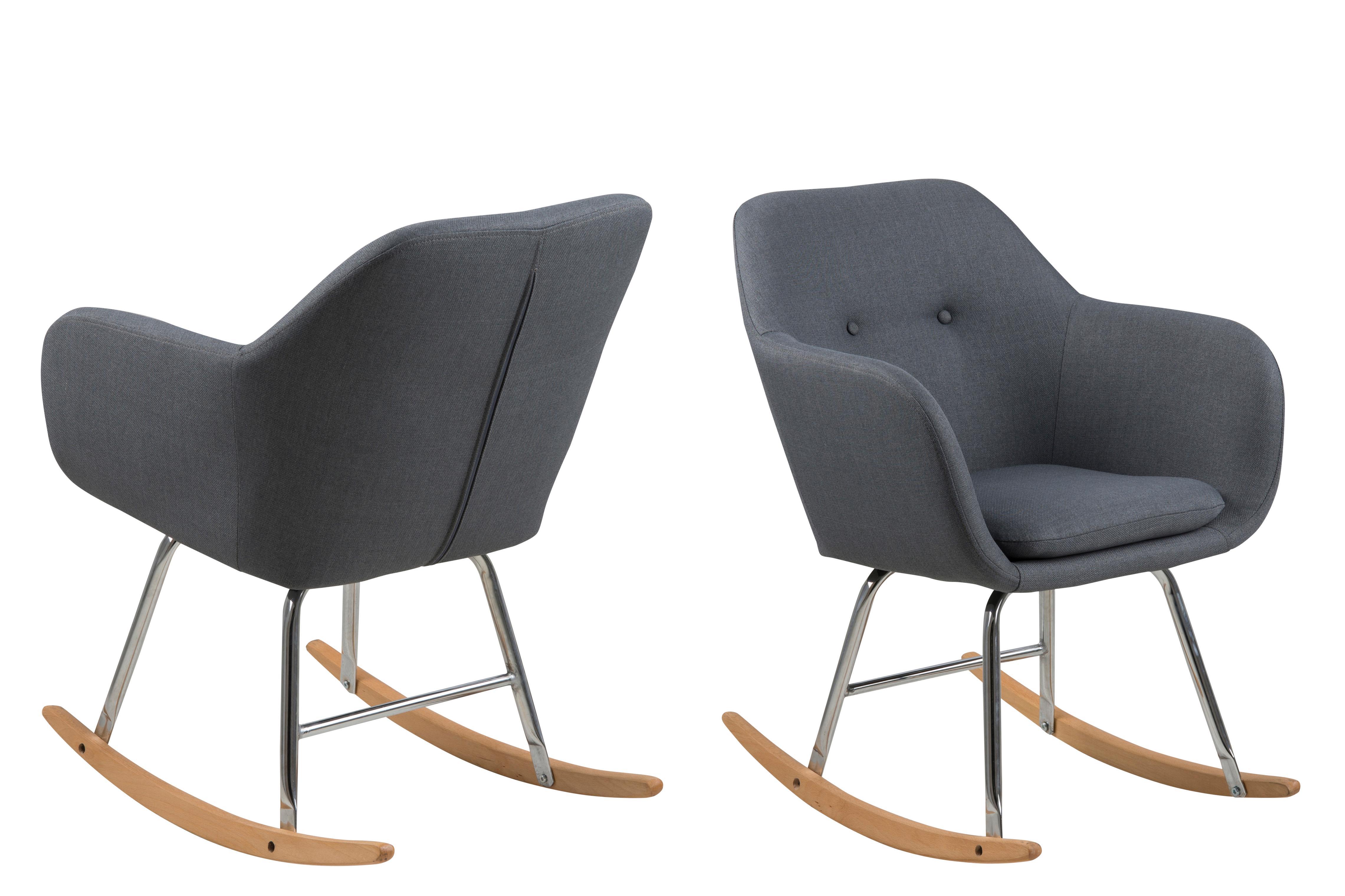 Ac design furniture 64790 schaukelstuhl stoff dunkelgrau for Ac design stuhl nora