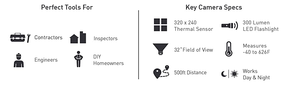 Seek Thermal, RevealPRO, thermal imaging, camera, contractors, engineers, DIY, inspectors, homeowner