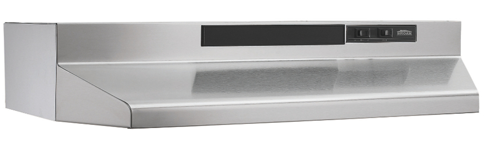 Stainless Steel 36-Inch Broan 433604 ADA Capable 4-Way Convertible Under-Cabinet Range Hood