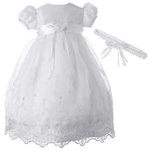 Classic Embroidered Christening Baptism Dress
