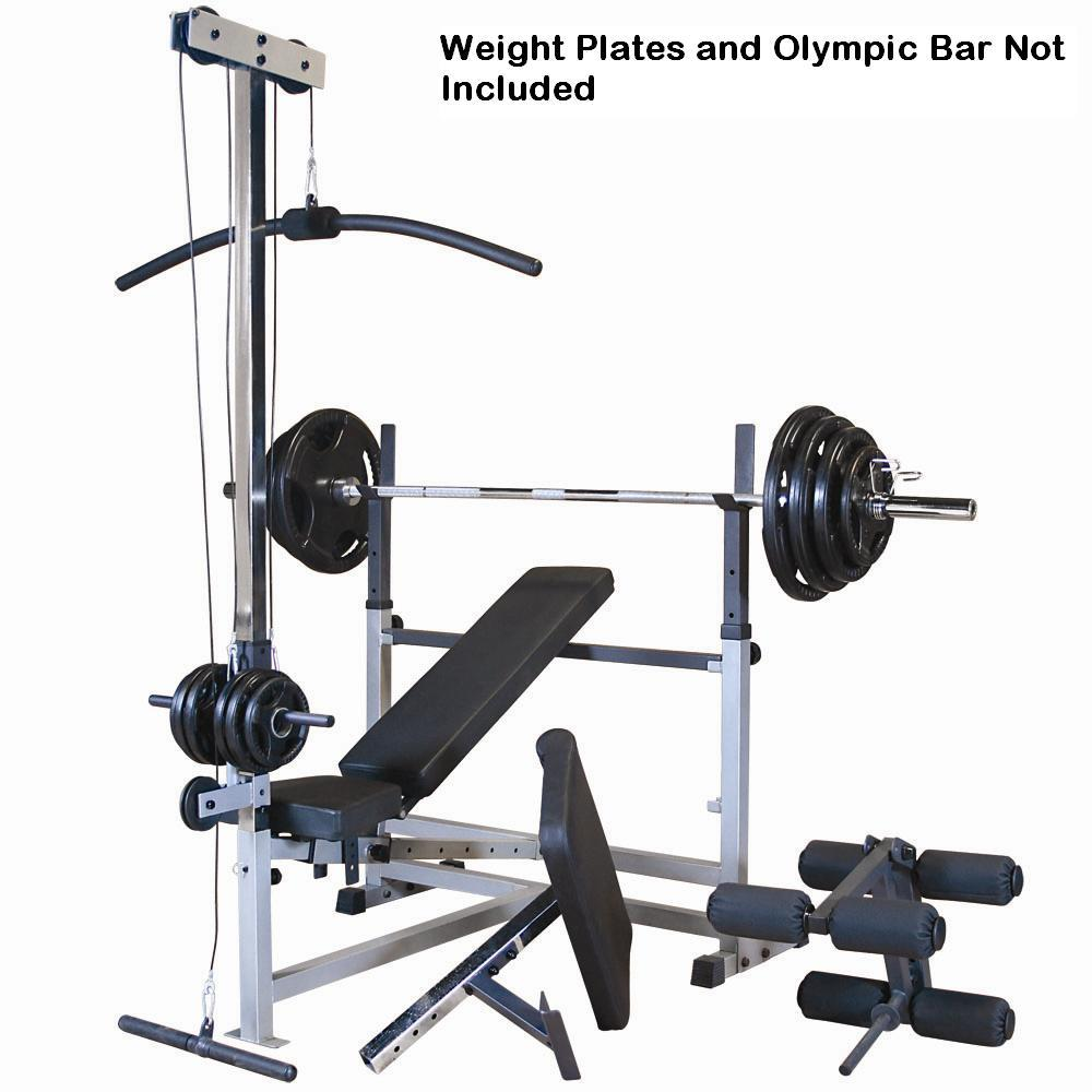 Amazon Com Body Solid Gdib46lp Olympic Bench Package