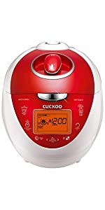 Cuckoo Electric Pressure Rice Cooker CRP-N0681F (Vivid Red)