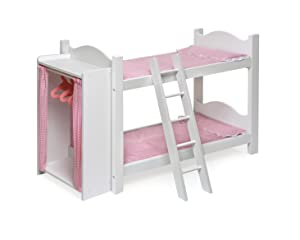 Doll Bunk Beds With Storage Armoire