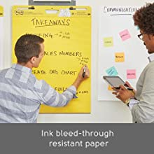 Post-it Easel Pads, Ink bleed-through resistant paper