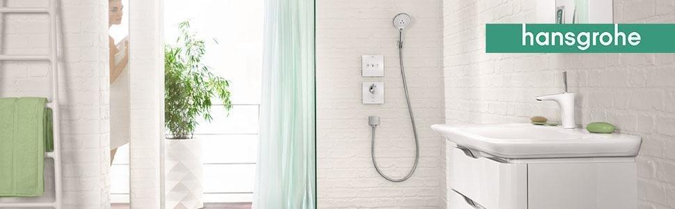 pared, empotrado, termostato, ducha, universal