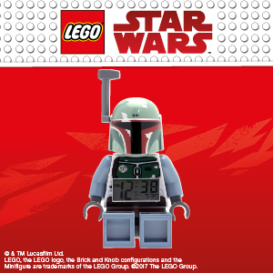 Amazoncom Lego Star Wars Boba Fett Kids Minifigure Light Up Alarm