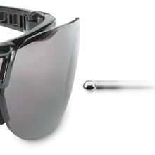 Uvex by Honeywell Prot/ég/é Safety Glasses Metallic Black Frame with Silver Mirror Lens /& Ultra-Dura Anti-Scratch Hardcoat S4203