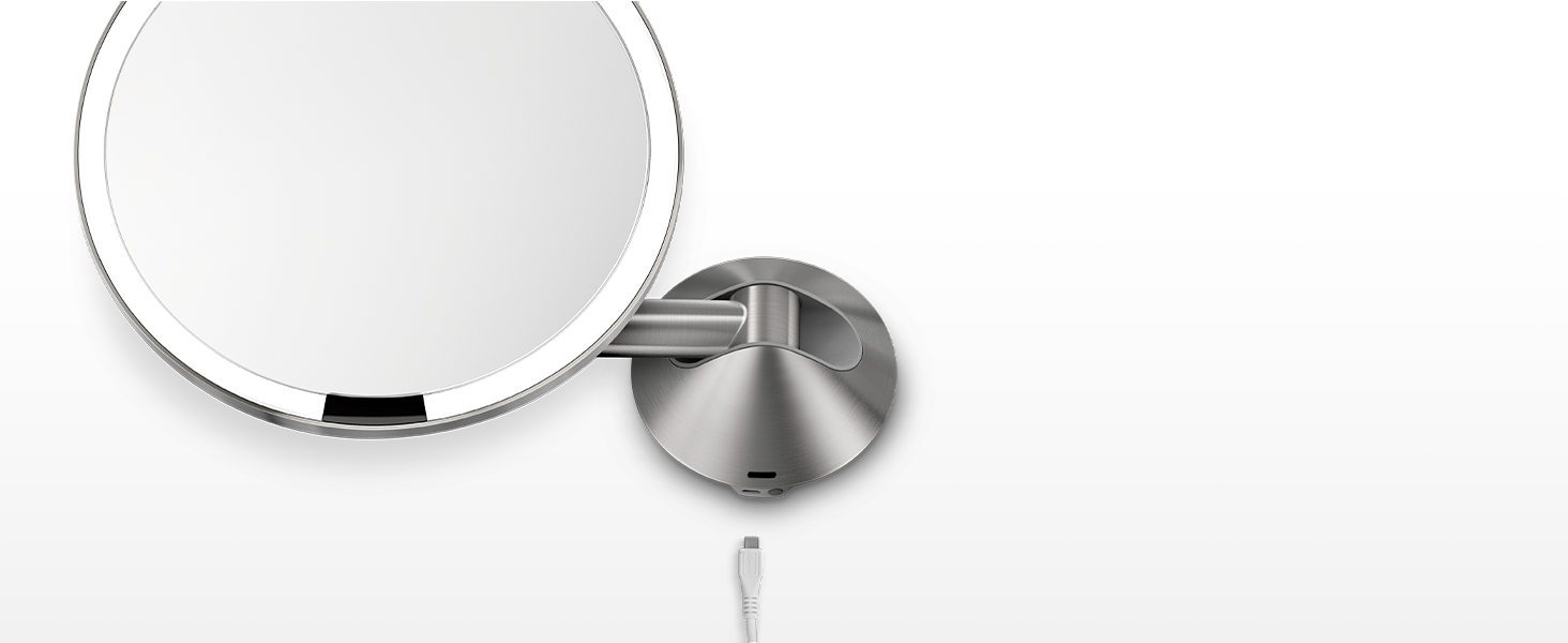 rechargeable wall mount mirror