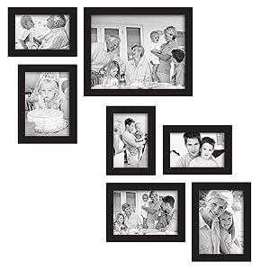 Amazon Com Mcs 7 Piece Gallery Frame Set Black 49709