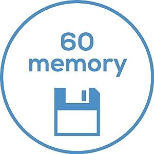 memoria para 60 mediciones