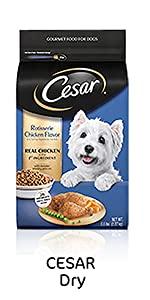 Cesar Dry Dog Food, Dog Kibble, Dry Food, Meaty Dog Food, Food for Small Dogs