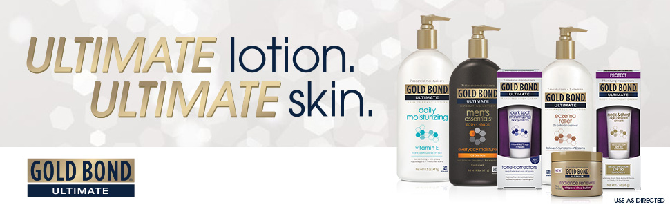 Gold Bond moisturizing lotions really work and can be used for neck, chest, feet, face, and hands.