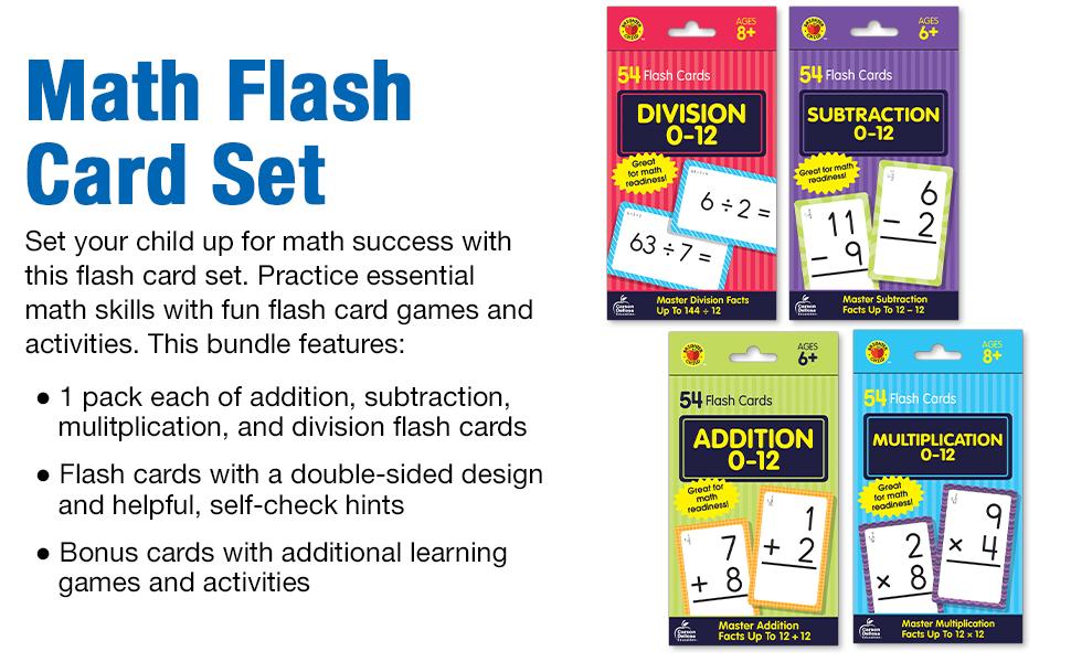 Image of flash card bundle with product description