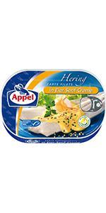 Appel Heringsfilets in Eier-Senf-Creme, 10er Pack ...