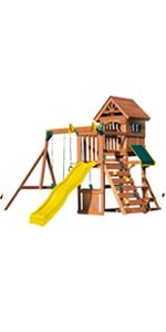 Jamboree Fort, WS 8328, swing set for kids, swing set with slide, wooden swing set, playset for kids