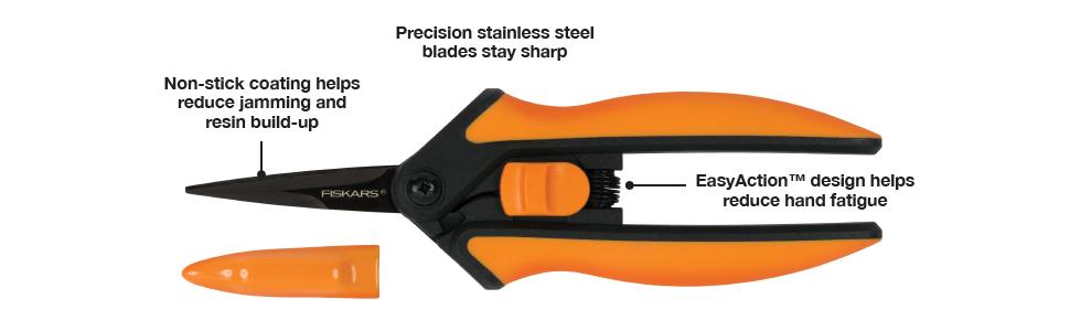 Non-Stick Micro-Tip Pruning Snip