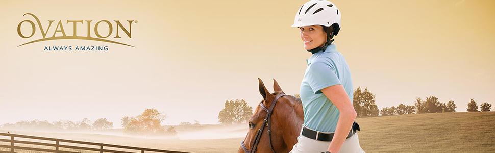 Ovation Protege Matt Black Equestrian Riding Helmet