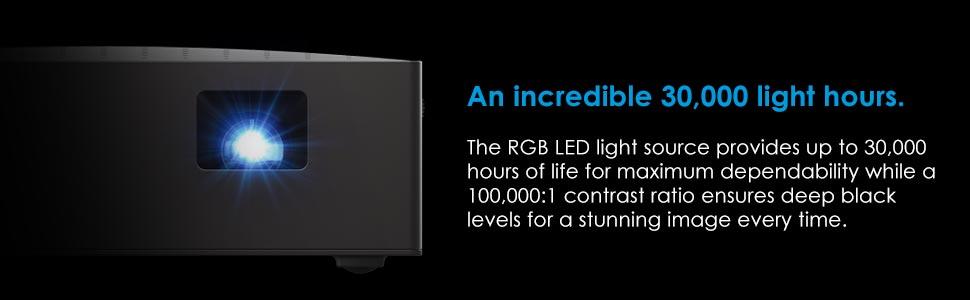 optoma lv130 30,000光小時rgb led光源深黑色水平令人驚嘆的圖像