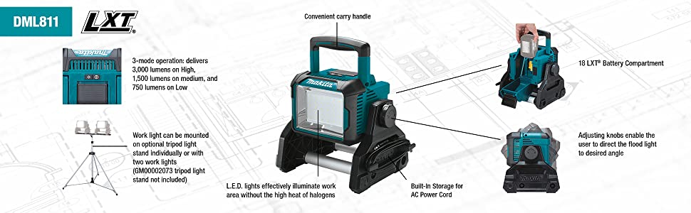 dml811 lantern lamp light floor flood callout walk around notes details mode operation usage