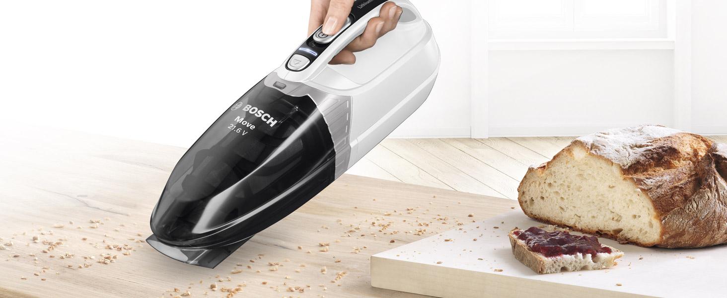 Bosch Move 14.4V Aspirador de Mano, 2 Velocidades, Blanco: Amazon.es: Hogar