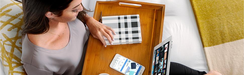 media bed tray, breakfast tray, laptop, lap desk, lapgear, tablet, tablet holder, bamboo, handles