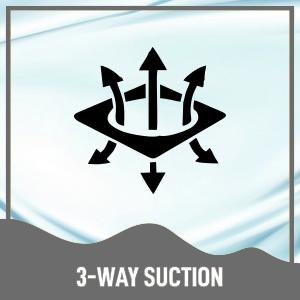 3 way suction