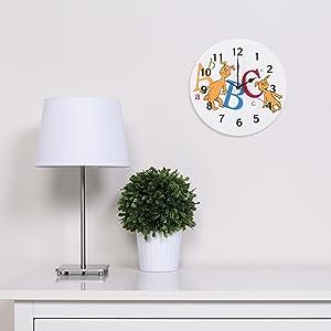 abc wall clock, childrens wall clock, dr seuss wall clock