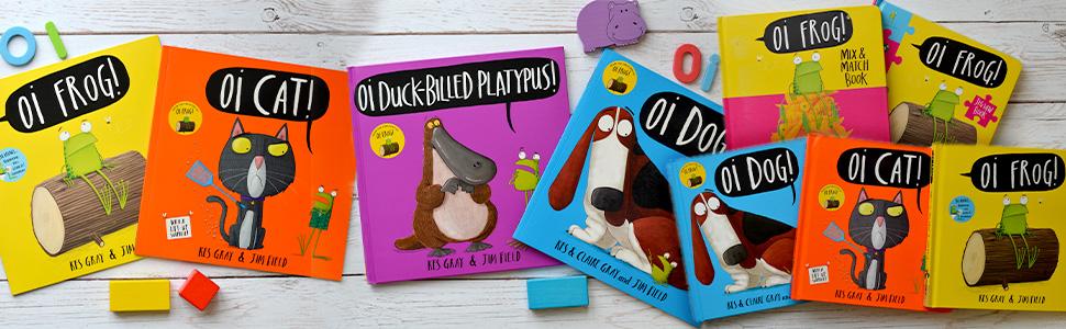 Oi Frog Oi Dog Oi Cat Oi Duck-billed Platypus Oi Puppies Oi Aardvark ABC books