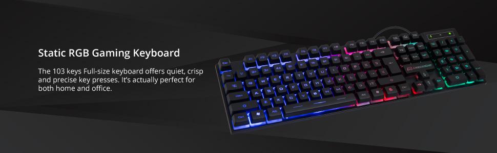 static rgb keyboard usb