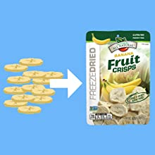 Freeze Dried Fruit Crisps Brothers all Natural Process