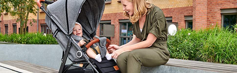 Kinderkraft Silla de paseo de bebe GRANDE Elegante Práctico ...