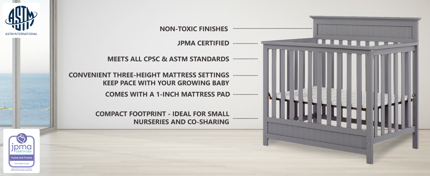 convertible crib, non toxic crib, baby crib, nursery furniture, baby furniture, baby products, crib
