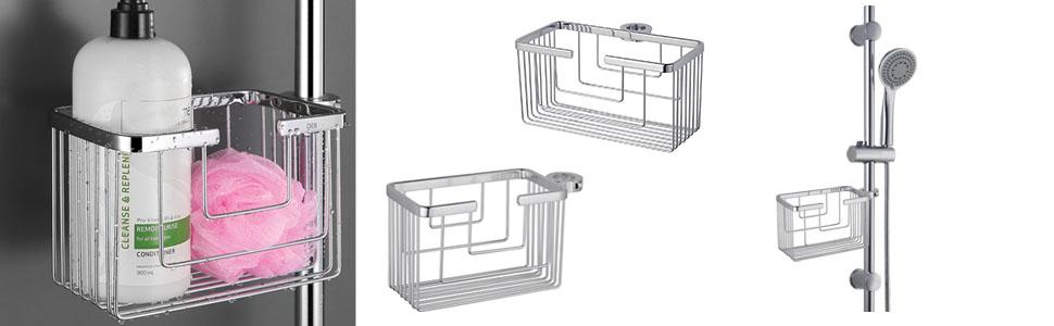 OXEN 131614 Portagel cesta de ducha y ba/ñera sin taladros 25cmx13cmx12cm