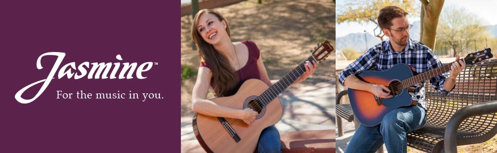 acoustic guitar, beginner guitar, guitar, guitar pack, Jasmine, first guitar, good cheap guitar