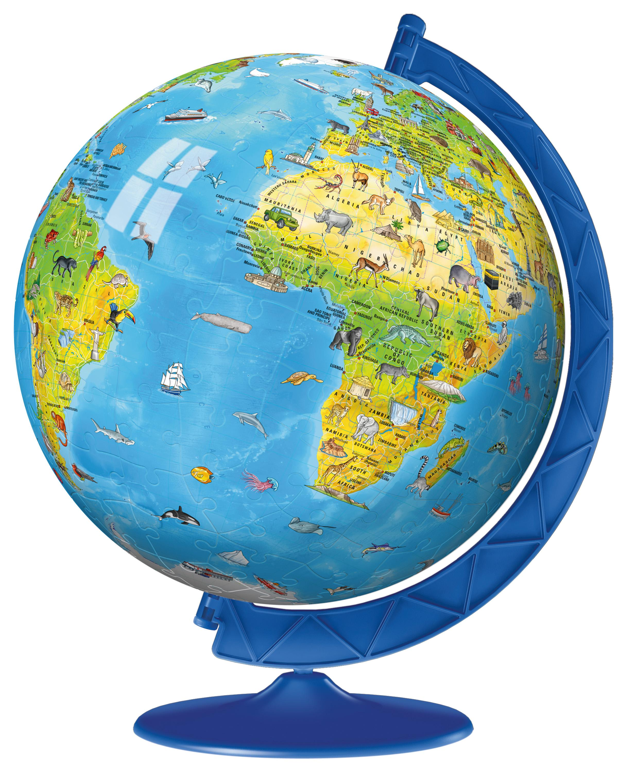Ravensburger Childrens World Globe Piece D Jigsaw Puzzle - Globe world map
