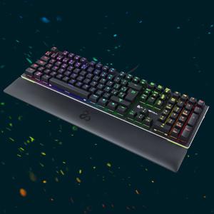 Newskill Serike Switch Brown - Teclado Mecánico Gaming con Reposamuñecas Plegable Incluido (Teclas con grabación Macro, 20 Modos de iluminación RGB) - ...