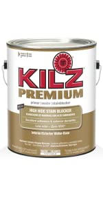Kilz adhesion high bonding interior exterior latex primer sealer white 1 quart for Kilz kilz 2 interior exterior latex primer