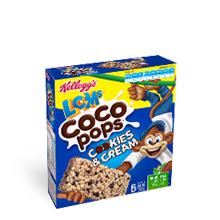 Kellogg's Coco Pops Cookies & Cream bars box