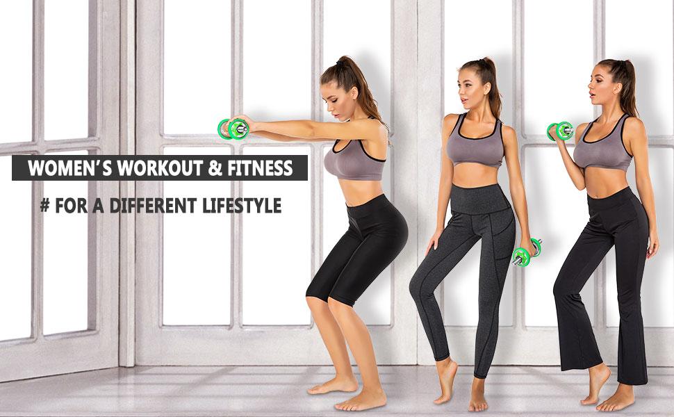Sirhao Yoga Pants for Women Leggings Bootcut Flex High-Waist Tummy Control 4-Way Stretch Yoga Pants for Workout Sport Fitness Running Gym Black