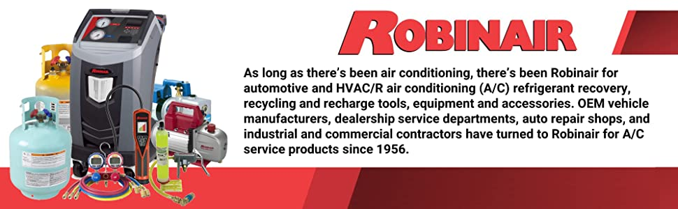 Robinair Automotive Air Conditioning A/C Refrigerant Recovery Recycle Recharge Equipment Accessories
