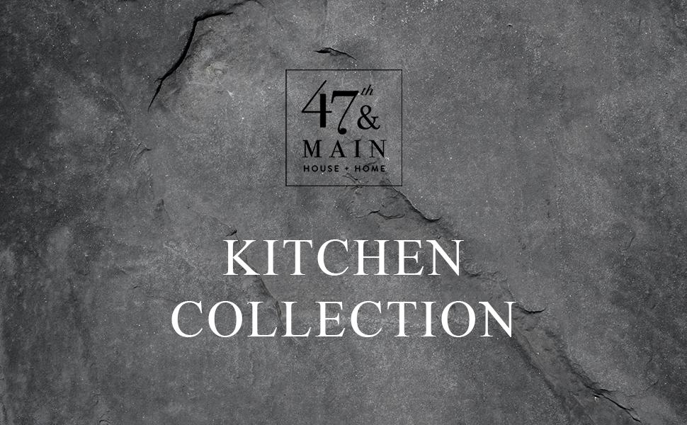 Black Oval Tray 47th /& Main Cast Iron Kitchen Small